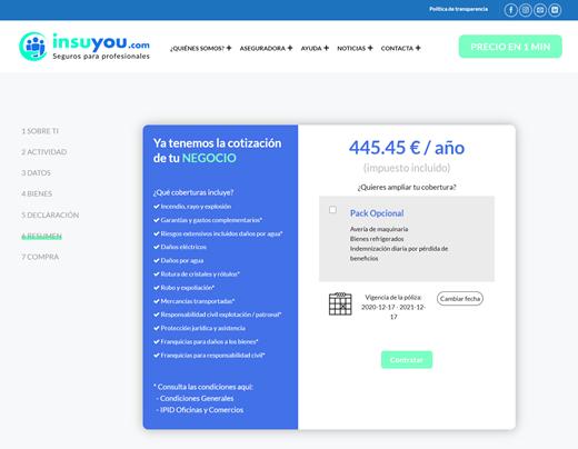 Calculadora de seguros online 6